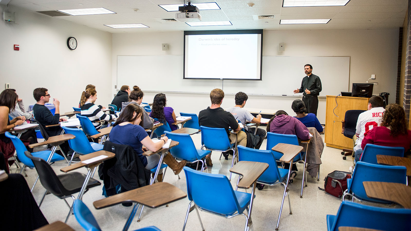 classroom in the science center